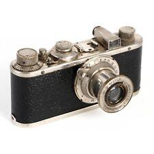 :Leica Leitz I (Ic) Nickel Plated 35mm Film Camera w/ Elmar 5cm 50mm f3.5 Lens