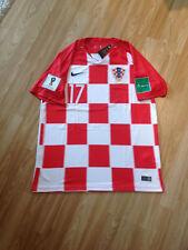 "2018 CROATIA ""MANDZUKIC"" football Supporters home shirt size L."