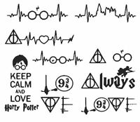 Set of harry potter vinyl badges stickers | phone glass laptop car water bottle
