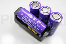 4 PILES ACCU RECHARGEABLE 8800mAh 26650 3.7V Li-ion BATTERIE BATTERY + CHARGEUR