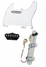 920D Fender Tele Telecaster Loaded Pre-Wired Pickguard Tex-Mex Pickups WH