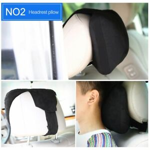 Softest Auto Car Neck Pillow Suede Headrest Support Cushion for Pain Relief