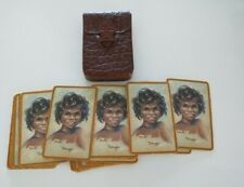 Peg Maltby 'Talinga' full deck of 52 playing cards in hide leather Robex holder