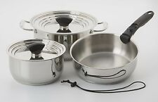 Galleyware 9-pc. Stainless Steel Nesting Induction Cookware Set