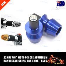 "Motorbike 7/8"" 22mm BLUE Handle Bar End Grip Slider Cap Plug Dirt Bike Universal"