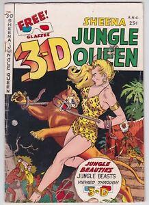3-D Sheena Jungle Queen #1 VG 4.0 Fiction House 1953!