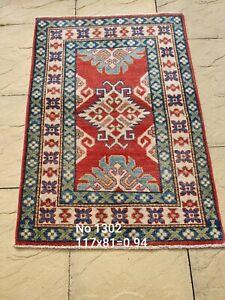 Afghan Kazak - Genuine hand knotted/handmade/oriental rug.