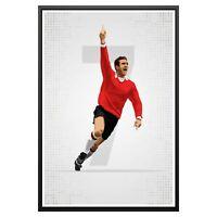 Eric Cantona Manchester United Poster Photo Art Print Man Utd Memorabilia