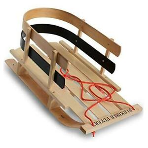 BCL-40 Premium Baby Sleigh. Toddler Boggan. Wooden Pull Sled for Kids,Red ,