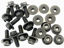 BMW Body Bolts & Flange Nuts- M6-1.0mm x 20mm Long- 10mm Hex- Qty.10 ea.- #387