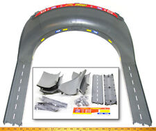 """TYCO TCR Slot less Car Total Control Race HIGH BANK CURVE TRACK +15"""" STRAIGHTS !"""