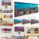 Abstract City Sky Modern Print Posters Wall Art Painting Canvas Decor No Frame
