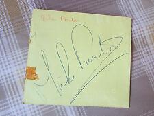Original Mike PRESTON Hand Signed 1960's Pop Musician & Actor Autograph Page