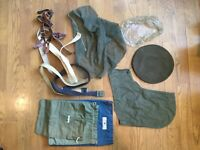WWII and Vintage Mix Lot of Military Clothes and Gear