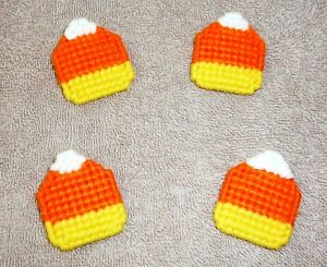 CANDY CORN PINS Or MAGNETS~Autumn~Hand Stitched~2 Inches By 1&3/4 Inches~NEW