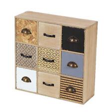 Deco 79 Modern Reflections Square 9 Drawer Wooden Jewelry Storage Box Organizer