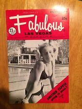 Fabulous Las Vegas Magazine Debbie Fredrick Jack E. Leonard F Sinatra  12/5/1970