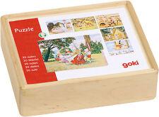 Goki Würfelpuzzle im Holzkasten Märchen