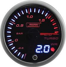 PROSPORT 60mm JDM Series Amber Red & White Led Warning Turbo Boost Gauge BAR