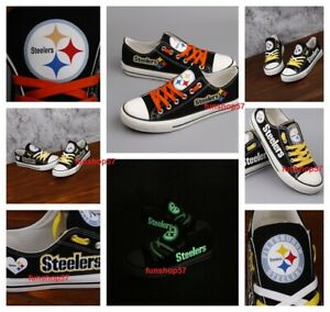 PITTSBURGH STEELERS Shoes Men's Women's Canvas Sneakers Football Team Logo NEW