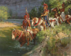 """Andy Thomas """" Osage Patrol Crossing """"Canvas  Edition Size 125 With Certificate"""
