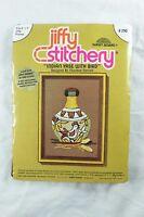 Indian Vase With Bird Embroidery Crewel Kit Jiffy Stitchery 1976 NEW