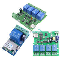 1/4 Channel WiFi Wireless Relay Switch Control DC/AC 5V/12V/220V For Smart Home