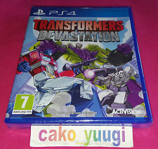 TRANSFORMERS DEVASTATION SONY PS4 NEUF SOUS BLISTER VERSION FRANCAISE