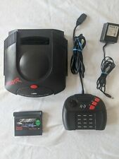 Atari Jaguar Launch Edition Black Console tested Working CyberMorph Game Include