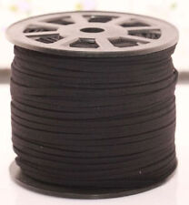 3M Genuine leather Suede Cord Beading Thread Lace Flat Jewelery Making 3mm