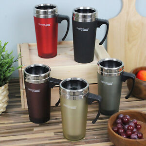 Soft Touch Insulated Thermal Travel Mug Stainless Steel Coffee Tea Cup Hot Cold