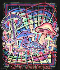 Magic Mushrooms Blacklight Reactive Cloth Wall Hanging Tapestry Fabric Poster