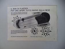 advertising Pubblicità 1965 BOB PLASTERSPORT - PLASTICA CALEPPIO MILANO