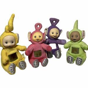 Vintage Playskool Teletubbies Plush Tiny Po Laa Laa Dipsy  Tinky Winky Mini 1998