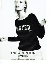 Publicité Advertising 078  1996   Sonia Rykiel    haute couture Mario Testino