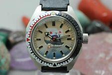 Vostok Komandirskie Russian Diver Amphibian Hand Wind Wrist Watch Running