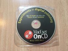 MacUser Mac usuario 1995 CD ROM experimentos en software de publicaciones digitales Vintage