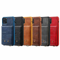 For Apple iPhone Model Handy Leather Wallet Protective Wrist Strap Case Cover