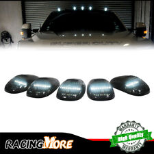 For Chevy GMC Ford Trucks Black Lens Cab Roof Marker Lights White LED Assemblies
