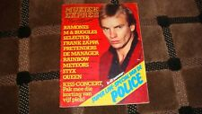 MUZIEK EXPRES  vintage european music magazine from December 1980 Police, Queen