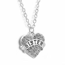 Heart Rhineston Necklace SISTER.