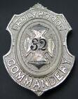 Holyrood Commandery 32 Knights Templar Masonic Antique Vintage Belt Buckle