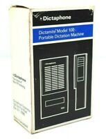 Dictaphone Dictamite Micro Cassette Recorder Model D-100 Dictation Machine