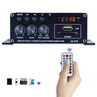 Mini Audio Power Amplifier Amp Speaker Digital Bluetooth 12V LCD Display, Dual