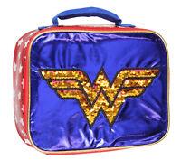 DC Comics Wonder Woman Lunch Box Reversible Magic Sequins Superhero Lunch Bag