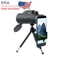 US 80x100 BAK4 HD Monocular Telescope + Tripod Zoom Portable Prism Outdoor Sport