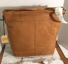 """New Frye Co. Riley Large Leather Tote Bag Cognac 12 1/2""""W x 14""""H x 12 1/2"""" $198"""