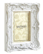 Shabby Chic Very Ornate Vintage Antique Matt White Photo frame  6x4 inch Picture