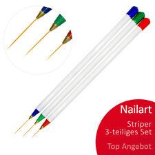 Profi Nailart Nageldesign STRIPER Naildesign Schlepp PINSEL SET 3-teilig