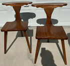Pair Mid Century Danish Modern M. Hayat & Bros. Rosewood Prayer Smoking Chairs